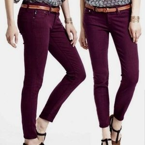 AG Steve ankle jeans deep purple